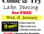 Start the New Year by Trying something with flavour.... Latin flavour.   Join our classes to learn partner dancing skills, & connect with great people.