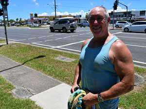 Parrearra resident Steve Wilson doesn't believe a pedestrian crossing over Nicklin Way at Lutana St needs to be changed.