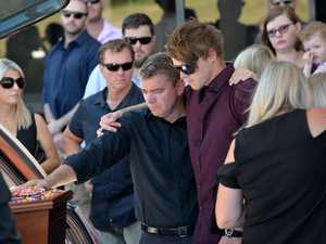 The final farewell of Mountain Creek man Bailey Sibraa, who died in a horror crash at Buddina on January 6.