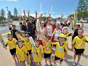 OI, OI, OI: The Caloundra Cricket Club members get ready for some Australia Day fun.