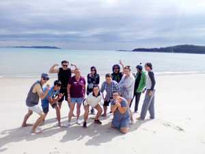 BRIGHT FUTURE: Pictured is Yeppoon PCYC's last year's intake of students after they'd completed the program enjoying a day at Great Keppel Island.