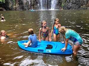 Cool family fun at Cedar Creek Falls.