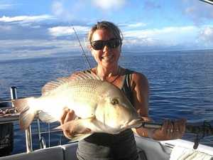 WINNING CATCH: This month's Ultimate Fishing Challenge winner Kathryn Cooper with her massive grass sweet lip.