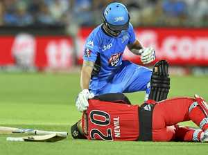 Freak bat accident rules Nevill out of BBL