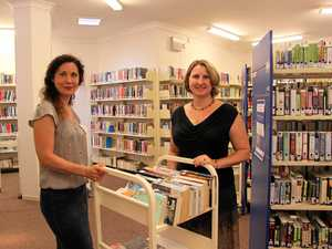 Deputy Mayor Chris Cherry and Richmond Tweed Regional Library Tweed Area Librarian Selina Ryan at the temporary Tweed Heads Library.