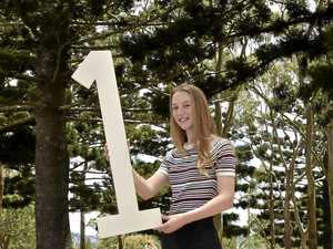 OFF TO UNI: Toowoomba graduate Bridget McCarron celebrates being accepted into her chosen university course, medical imaging at the Queensland University of Technology.