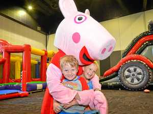 Peppa Pig dropped in to the GECC yesterday.Owen Johnson, 5, and Xavier Scott, 4.