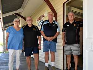 (L) Hervey Bay Vietnam Veterans & Associated Forces Social Club members (L) Narelle English (Treas/Sec), Barry English (Pres),  and Garry Forster (V/Pres) with Bob Taylor (Pres. Vietnam Veterans Assoc.).