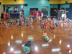 TEAMING UP: The PCYC's school holiday programs keep children well entertained.