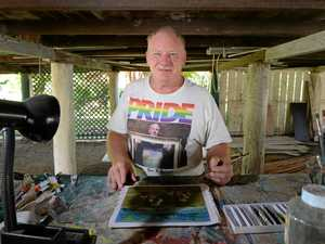Ian Painter used art to turn his life around after a workplace accident left him with nothing