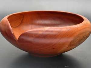 FUNCTION AND BEAUTY: A timber bowl by Peter Farkas.