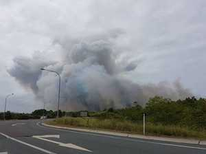 Bushfires rage at Coolum