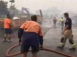Coolum industrial estate firefighting efforts
