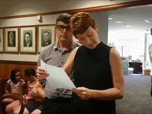 Melinda Macaulay addresses council over the Optus tower