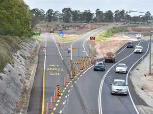 Bruce Highway roadworks at Tinana