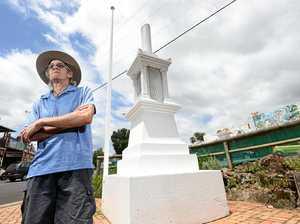 Flower beds destroyed at Northern Rivers war memorial