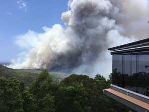 Police are helping evacuate residents areas around Coolum.