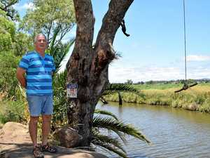 ROCKY DECISION: Russell Werner, owner of the land beside the popular Rockies waterhole.