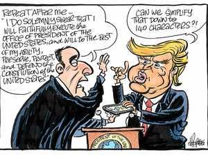 Harry Bruce cartoon Trump inauguration