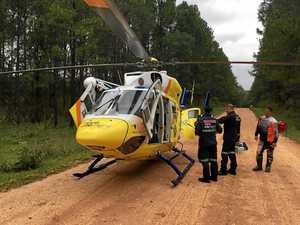 Man airlifted after bike accident near Tin Can Bay