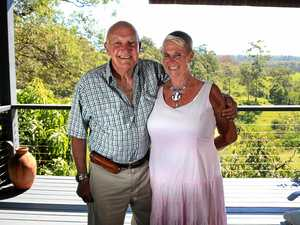 INTREPID ADVENTURERS: Iain Finlay with wife Trish Clark at their home in North Tumbulgum this week.