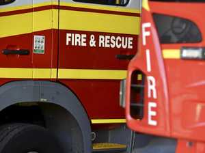 Shed destroyed by fire at Burnett Heads