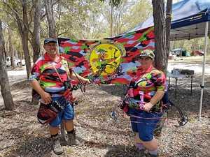 Club president Brian and Barbara Thring of Full Draw Field Archers
