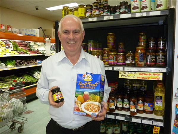 Greg Johnson excited by Australian foods!
