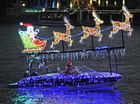 Christmas light spectacular on the water at Mooloolaba