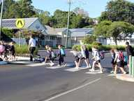The weather was a little 'fresh' as staff and students set off on Friday the 20th May as part of Walk Safely to School Day.