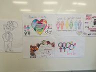 Noosa District State High School Year 12 students created a class mural highlighting an important topic that they feel very strongly about: marriage equality.