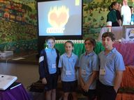 On Tuesday this week, four Year 5 students and Year 5 teacher, Miss Kelli Ann Bugden from St Brigid's Primary School Kyogle, joined other Catholic Primary School students from across the Region, at the Exuro Retreat Day, held in the Tullera Hall.