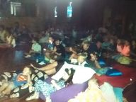 The afternoon storm didn't stop the crowds coming along to the Twilight Dinner and Movie Night in the grounds of St.
