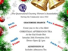 QCWA Gracemere Christmas Afternoon Tea