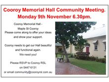 Cooroy Memorial Hall Community Meeting.