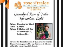 2016 Queensland Rose of Tralee Information Night
