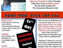 Thought Education Fasttrack Seminar - The Instructions Manual to Life!