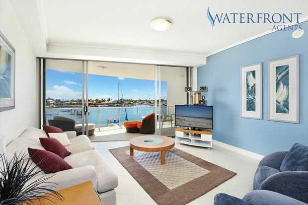 You'll be surprised with the quality and size of this waterfront apartment that has only been used s...