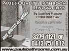 Paul's Quality Bathroom Renovations
