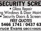 CC Security Screens