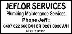 PlumbingMaintenance Services   Phone Jeff : 0407 622 668 B/H OR 3281 3830 A/H...