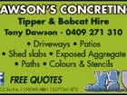 Dawson's Concreting Tipper & Bobcat Hire