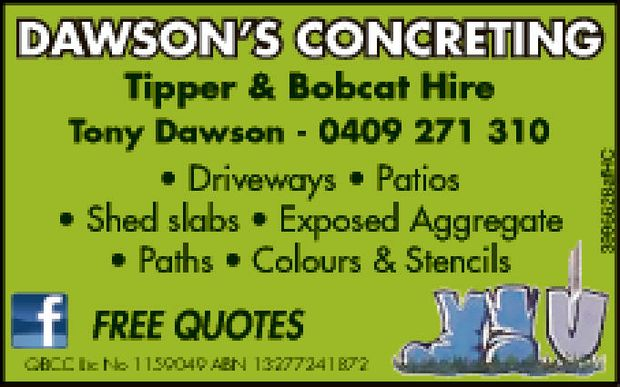Tony Dawson 0409 271 310