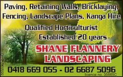 Paving, Retaining Walls, Bricklaying, Fencing, Landscape Plans, Kanga Hire Qualified Horticultu...