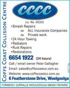 COFFS COAST COLLISION CENTRE
