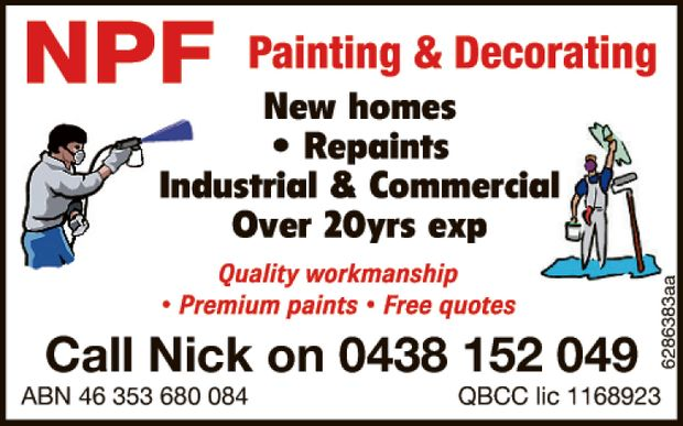 Quality workmanship    New homes  Repaints  Industrial & Commercial  Ov...