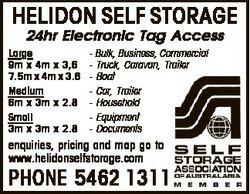 HELIDON SELF STORAGE   24hr Electronic Tag Access   Large     9m x 4m x 3,6  ...