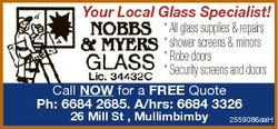Your Local Glass Specialist!