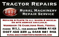 Rural Machinery Repair Service Repairs & Parts to all makes & models. On site s...
