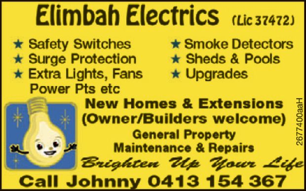 Safety Switches  Smoke Detectors  Surge Protection  Sheds and Pools  Extr...